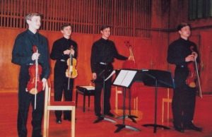 The Stolyarsky String Quartet at the stage of Musikschule Konservatorium Bern in 2004
